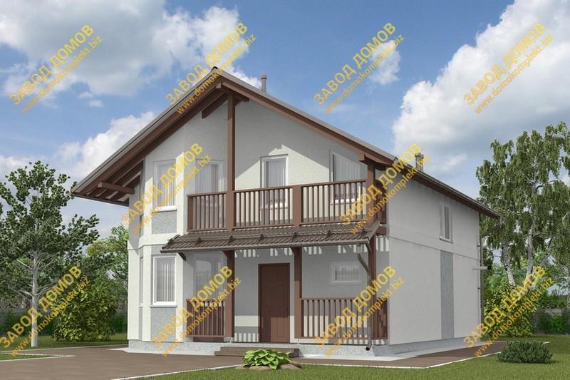 Проект э151 дом коттедж с мансардой общая площадь 148,1 м2 к.