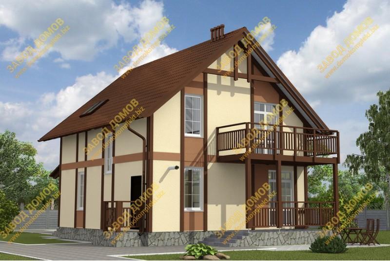 Проект 14-76 дома из сип панели от 100 до 150 кв м.